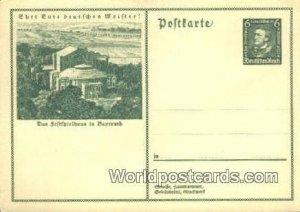 Das Seftfpielhaus in Bayreuth Germany Unused