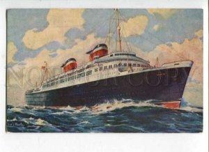 400662 United States Line ship America Old postcard