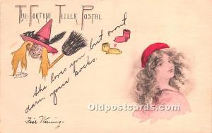 Halloween Postcard Post Card The Fortune Teller 1907