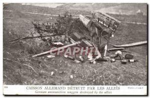 Militaria - German Underwater destroyed by the Allies - Old Postcard