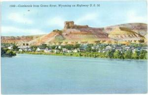 Castlerock from Green River, Wyoming, WY, Linen