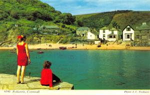 Vintage Postcard CORNWALL Polkerris by H. Barton #A26G