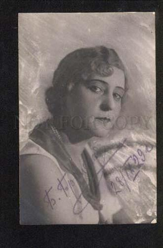 049189 BRONSKAYA Musical Comedy old photo AUTOGRAPH