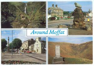 UK, Around Moffat, multi view, 1994 used Postcard