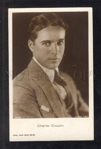 033242 CHARLIE CHAPLIN English MOVIE Star Hollywood Old photo