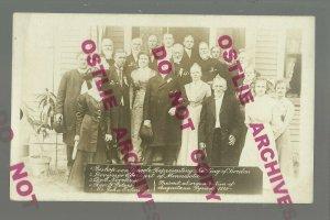 St. Paul MINNESOTA RPPC c1910 GOVERNOR meeting SWEDISH BISHOP Dignitaries Sweden