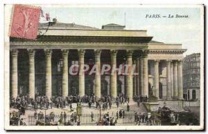 Old Postcard Paris Bourse