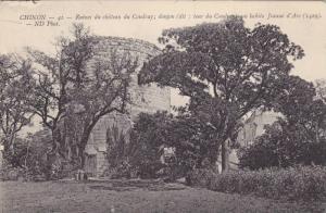 Ruines Du Chateau Du Coudray; Donjon, Chinon (Indre-et-Loire), France, 1900-1...