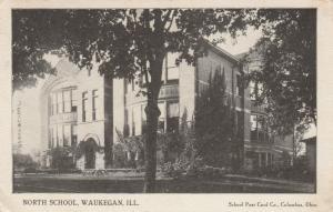 WAUKEGAN, Illinois, PU-1909; North School
