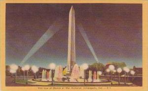 Indiana Indianapolis Nite View Of Obelisk At War Memorial