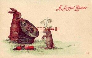 A JOYFUL EASTER - rabbit pops out of a hat