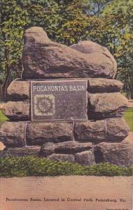 Pocahontas Basin Located In Central Park Petersburg Virginia