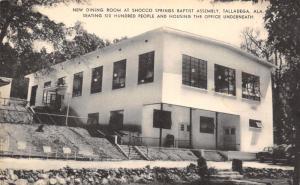 Talladega AL~Shocco Springs Baptist Assembly~Dining Room On Hillside~1940s B&W