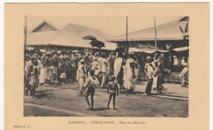 Benin; Dahomey, Porto Novo, Fete Aux Marches, Market Day PPC, By ER, Unused