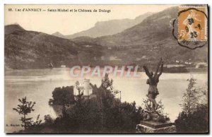 Old Postcard Lake D & # 39Annecy Saint Michel and Chateau de Duingt
