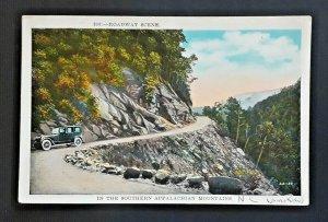 Mint Vintage North Carolina Appalachian Mountains Roadway Scene 1920s Postcard