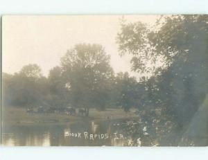 Pre-1920 rppc NICE VIEW Sioux Rapids By Cherokee & Spencer & Storm Lake IA i7995