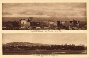 lebanon, BAALBECK BAALBEK, Temples from the East, View North Side (1920s) II