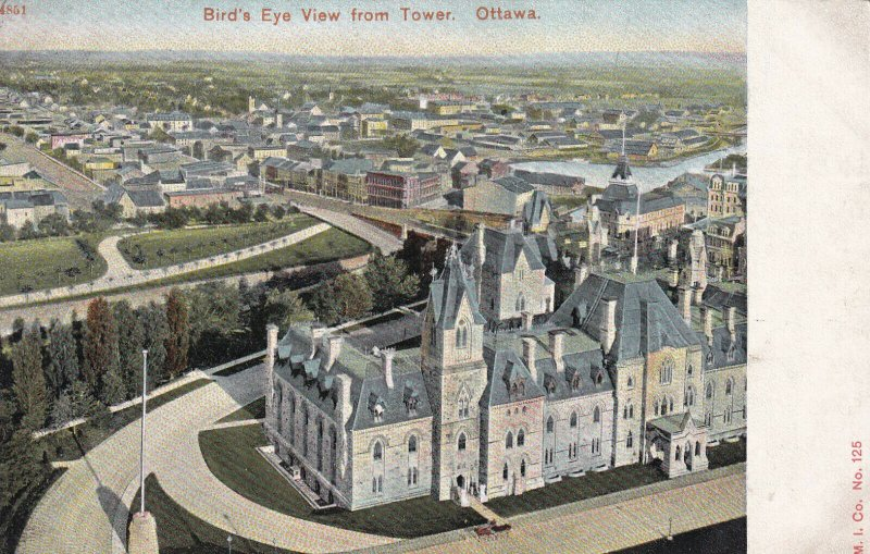 OTTAWA, Ontario, Canada, 1900-1910's; Bird's Eye View From Tower