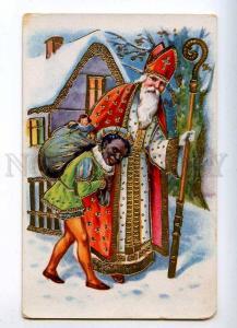 215906 SAINT NICHOLAS Santa Claus KRAMPUS Devil Old NEW YEAR