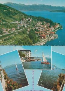 Laggo Maggiore Belgirate Sailing Boat Aerial 2x 1970s Postcard