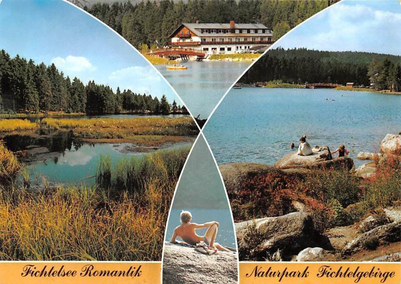Fichtelsee Romantik Naturpark Fichtelgebirge Gasthaus Pension Lake Bridge