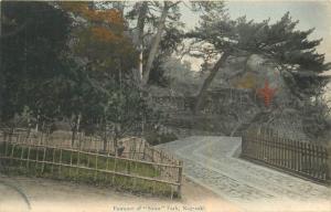 Entrance To Suwa Park, Nagasaki Japan Handcolored Postcard