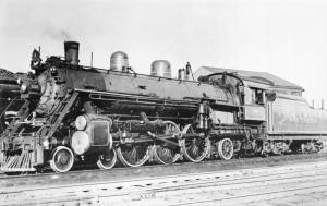 SOUTHERN RAILWAY RAILROAD LOCOMOTIVE # 1333-RICHMOND VA 1948 POSTCARD