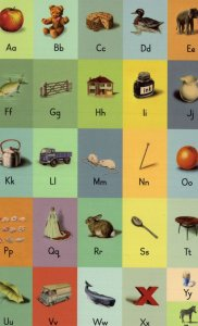 Childrens Learn The Alphabet To Count Letters Ladybird Book Postcard