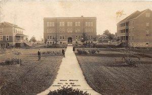 F54/ Goshen Indiana RPPC Postcard c1910 Goshen College Buildings