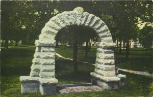 Beloit Wisconsin~Stone Arch on College Campus~1907 Postcard