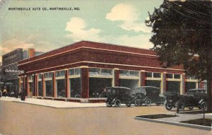 Martinsville Indiana Martinsville Auto Co Car Dealership Vintage Postcard AA9997