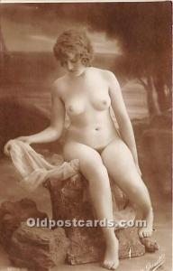 French Nude Postcard Grisette Non Postcard Backing