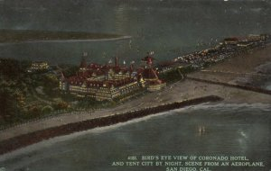 SAN DIEGO , California , 1900-10s ; Coronado Hotel at night