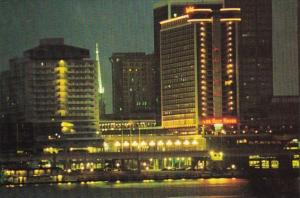 Kentucky Louisville The Galt House Hotel On The River At Fourth Avenue At Night