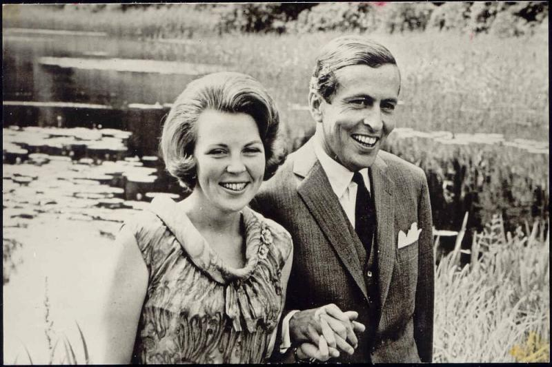Dutch Princess (Later Queen) Beatrix with Prince Claus von Amsberg (1965) RPPC 3