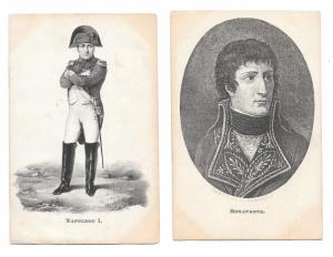 Napoleon Bonaparte Portraits 2 Werner Art Gallery Gottingen Vntg Litho Postcards