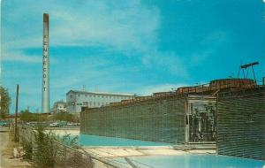Hurley New Mexico 1950s Smelter Mill Postcard Schaaf 298