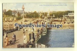 tp0449 - Hants - A Sunny Day on Bournemouth Pier and Beach c1914 - postcard