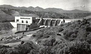 Vintage Keswick Dam Power Plant, Sacramento River, Redding, Calif. Postcard P130
