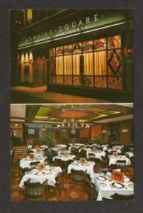 NYC Downing Square Restaurant NEW YORK City Postcard PC
