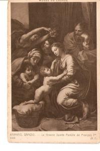 Postal 027255 : Raphael Sanzio. La Grande Sainte Famille de Fran?is