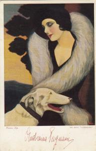 NANNI ; Art Deco Female Portrait , Movie Star , 1910-30s