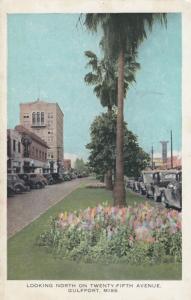 GULFPORT , Mississippi, 1940s ; North on Twenty-Fifth Avenue