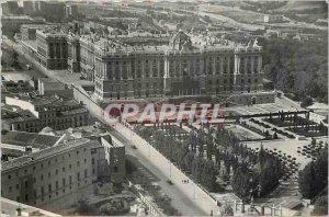Postcard Modern Madrid National Palace Panoramic view