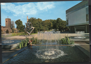 Post Card Stuttgart Germany Kleines Haus  fountain