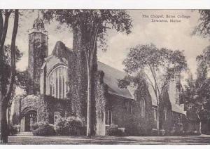 Maine Lewiston The Chapel Bates College Albertype