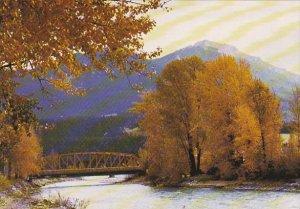 Bridge Over Kicking Horse River At Golden British Columbia Canada