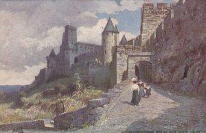 AUDE, France, 1900-10s; Cite de Carcassonne, Montee de la Porte ; TUCK #3