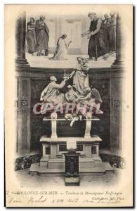 Old Postcard Boulogne sur Mer Tomb of Archbishop Haffringue